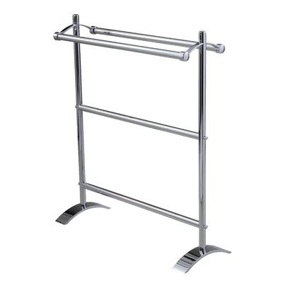 Essentials Freestanding Double Towel Stand Finish: Chrome -
