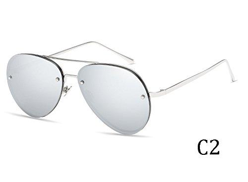 Gafas Tela Reborde Espejo Gafas 3027C2 Caja Señor De TIANLIANG04 De Mujer De Sol Lentes De Sin Bolsa Sol Mujer pSfFv