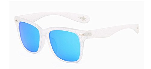lunettes Glacier métallique de vintage style polarisées soleil en Bleu rond retro Lennon inspirées du cercle rBqr6W
