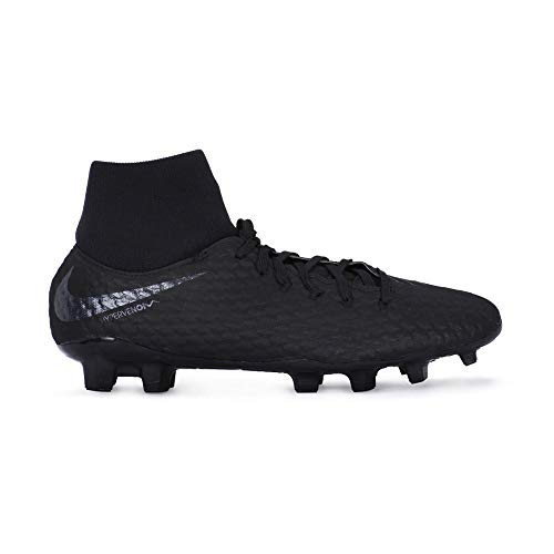 64a2a9bfeab1 Nike Hypervenom Phantom 3 Academy DF FG Soccer Cleat (Black) (Men s 11  Women s 12.5)