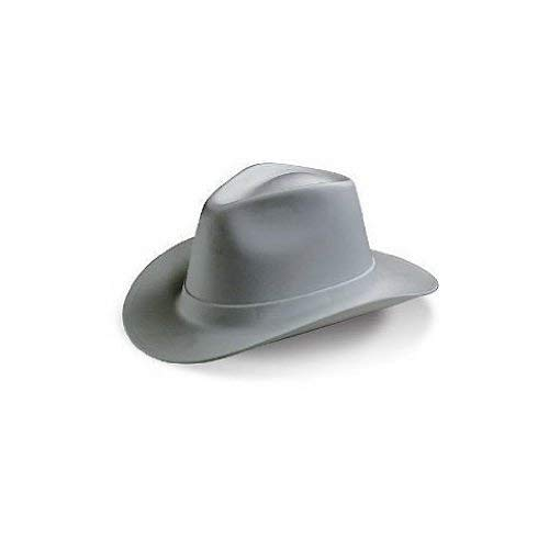 Western Hat Hard - Vulcan Cowboy Hard Hat 6 Point Ratchet Suspension - Grey #VCB200