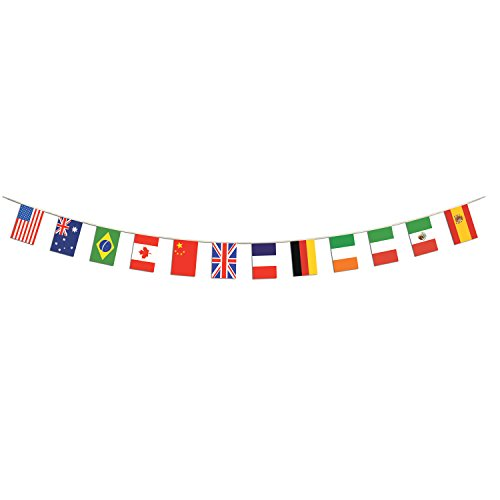 Beistle 57739 International Flag Pennant Banner, 12