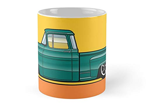 (5557 Chevy Stepside Truck Green Mug - 11oz Mug - The best gift for family and friends.)