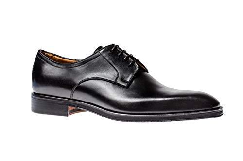 Jose Real Shoes C Nero   Oxford Genuine Italian Leather Shoe Black, Size 45