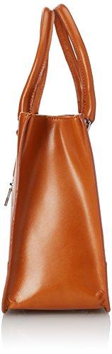 de italien in Cuoio femme classique CTM Italy véritable Made 36x26x18cm sac style Orange de élégante 100 cuir et 5U6Tq8gqwx