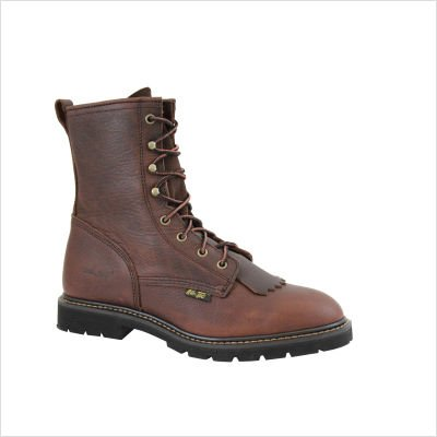 AdTec Mens Chestnut 9in Lacer Work Boots Leather Packer 9.5 M