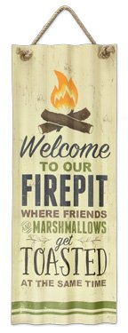 (Tin Waffle Iron Fire Pit Signs)