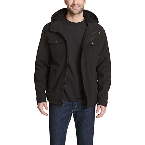 - Levi's Men's Soft Shell Two Pocket Sherpa Lined Hooded Trucker Jacket, New Black, Medium