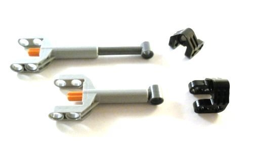 """LEGO TECHNIC - 2 x """" Mechanical control cylinder (Linear Actuator) mini with brackets """""""