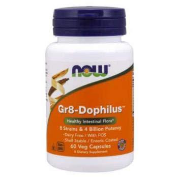 NOW Foods - Gr 8 Dophilus - Enteric Coated - 60 Vegetarian Capsules