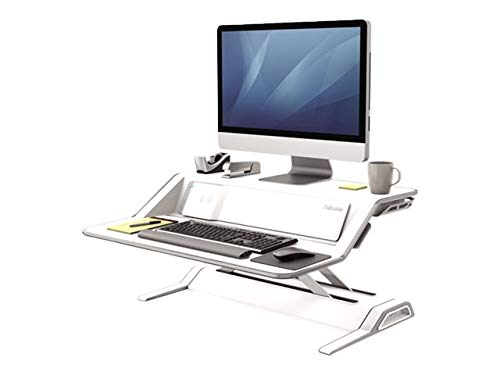 Fellowes Lotus DX sit-Stand Workstation - Stand for LCD Display/Keyboard/Mouse - White ()