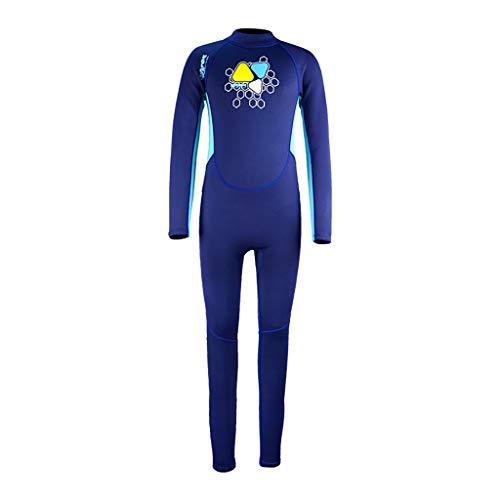 Kids Wetsuit Neoprene Snorkeling Wetsuit Surfing Swimwear Scuba One-Piece Full Body Long Sleeve Swimsuit CapsA