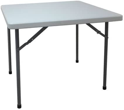 Square Folding Table, 36 D x 36 W x 30 H White