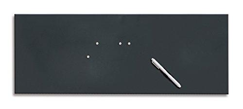 Eurographics MB-BLACK3080 Magnet- und Schreibtafel aus Glas (inklusiv Stift + Magnete) Memo Board Black, 30 x 80 cm