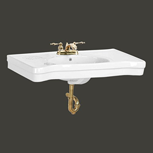 Belle Epoque White China Wall Mount Console Sink 4