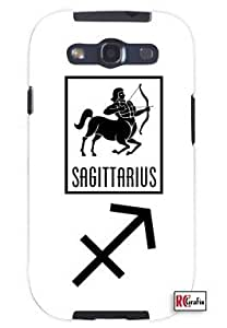 Sagittarius Sign Zodiac Horoscope Symbol Unique Quality Soft Rubber TPU Case for Samsung Galaxy S4 I9500 - White Case