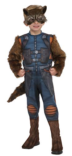 Rubie's Costume Guardians of The Galaxy Vol. 2 Toddler Rocket Raccoon Costume, Multicolor, X-Small -