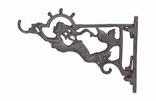 Iron Mermaid Plant Hook with Bracket UD