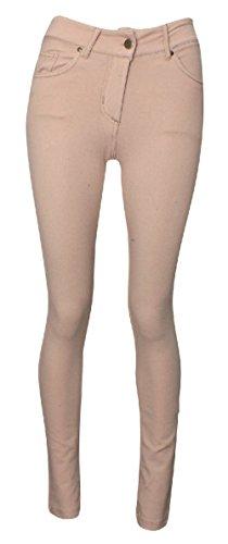 NUOVO Donna Taglie Forti Da Donna Colorati Skinny Stretch Jeans Jeggings Leggings 36-54 Stone