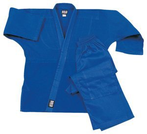 Middleweight 7.5 oz Traditional Karate Uniform - Blue Size 7