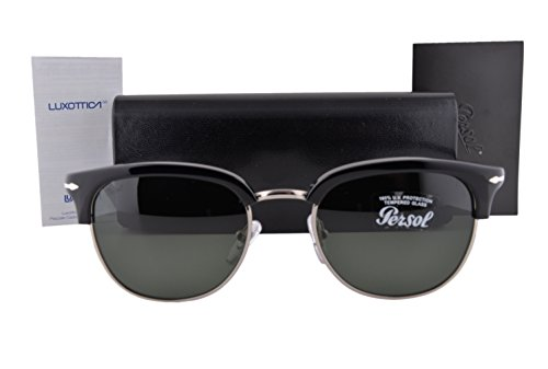 Persol PO3105S Sunglasses Black w/Green Lens 9531 PO - Persol Po3105s