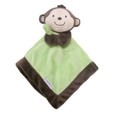 Carter's Brown/green Monkey Security Blanket With Plush (Best Home Security Cincinnati)