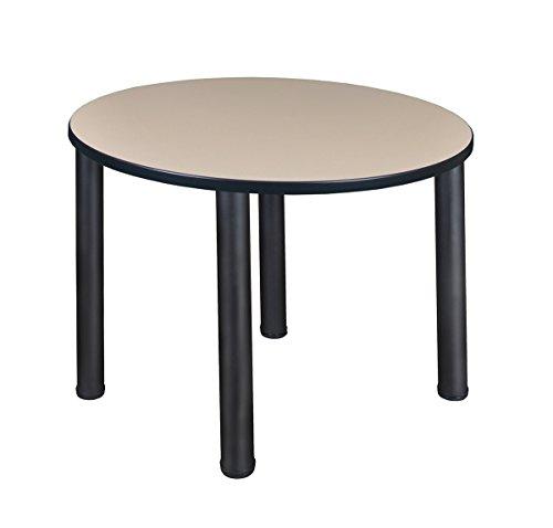 Regency Seating Kee 36'' Round Breakroom Table- Beige/Black by Regency Seating