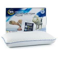 Serta Stay Cool Gel Memory Foam Pillow (Serta Memory Foam Bed)