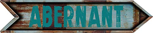 """Any and All Graphics ABERNANT 4""""x18"""" Arrow Shaped Rustic Antique Vintage Look Composite Aluminum Novelty décor Sign."""