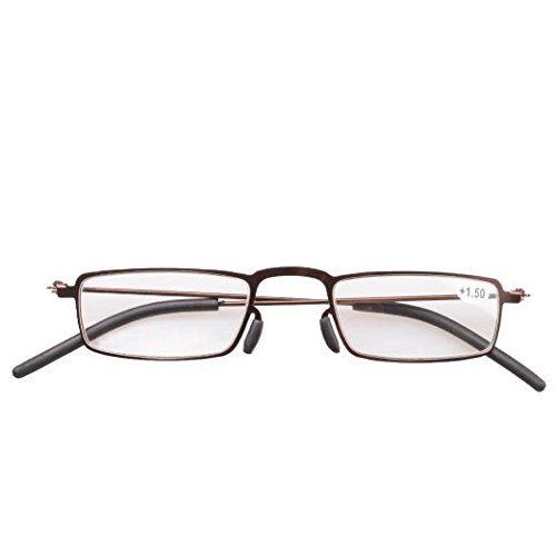 c1077c08771 Eyekepper 5-Pack Straight Thin Stamped Metal Frame Half-eye Style Reading  Glasses Readers