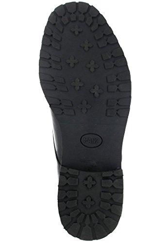 NICE-mANZ-homme-noir-chaussures en matelas grande taille