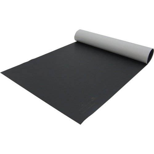 Desco 42540 Statfree Z2 3-Layer Vinyl Table Mat, Black, 24'' x 50' by Desco