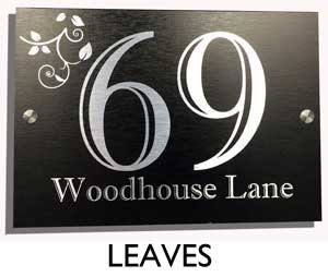UK House Signs Designer House Number Plaques (BLACK|SILVER - LEAVES on house numbers and letters, house number art, house number decorations, house numbers on door, house numbers above door, house on the rock, house number signs, house number plates, house number lamps, house number tiles, house number post, house number ideas, house number planters, house number stained glass patterns, house number decals, house number displays, house styles names, house number stencils, house number frames, house symbol,