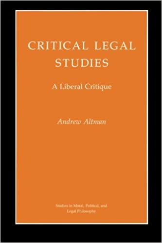 Critical Legal Studies by Andrew Altman (1993-03-22)