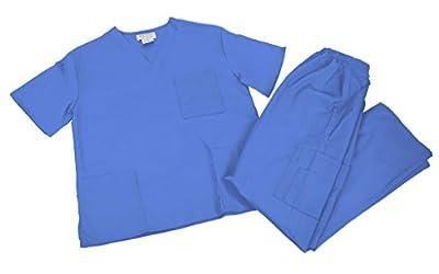 M&M SCRUBS Women Scrub Set Medical Scrub Top and Pants.. RUN LARGE