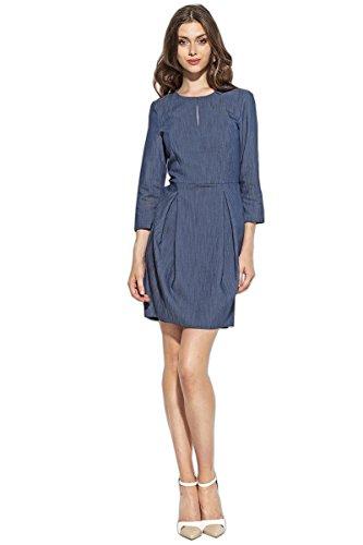 Nife Nife Damen Blau Blau Kleid Kleid Jeansblau Nife Damen Jeansblau qw7qpRx1