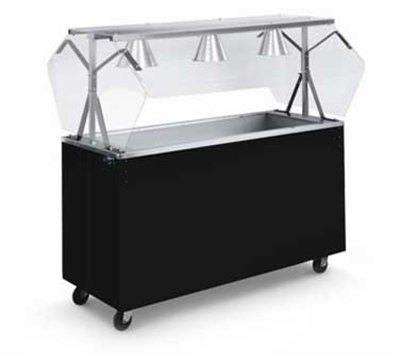 Vollrath 3895046 Affordable Portable Three Well Non-Refrigerated Cold Food Station 46