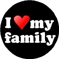 Pinback Love Button (I Love my family 1.25