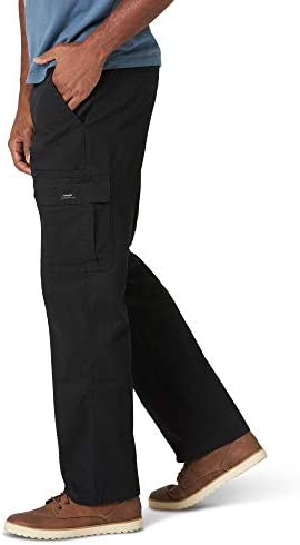 316j39pmO6L. AC Wrangler Authentics Men's Stretch Cargo Pant    Wrangler Authentics Men's Classic Cargo Stretch Twill Pant. This classic cargo pant is constructed with durable materials built for long-lasting comfort. This cargo pant sits at the natural waist and features a relaxed fit through seat and thigh. Stretch fabric moves with your body, whether you're working in the yard or busy with the family on the weekend. (6) Pockets. (2) cargo side pockets (2) back patch pockets, and (2) slash pockets. ImportedZipper closureMachine WashRELAXED FIT. These cargo pants sit at the natural waist. Designed with a relaxed fit through the seat and thigh, these cargos will keep you comfortable during any task.STRETCH TWILL. A Wrangler classic, these straight-leg men's pants have stretch and flexibility for comfort in movement. A Hollywood waistband offers extra support with your favorite belt.CLASSIC CARGO PANT. This classic cargo pant is sure to be comfortable and functional for everyday wear. From the outdoors to work, this pant is built for versatility with a timeless silhouette and extra storage.