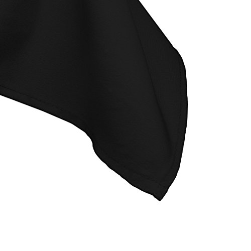 LinenTablecloth 60 x 102-Inch Rectangular Polyester Tablecloth Black by LinenTablecloth (Image #3)