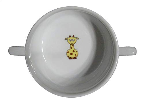 Soup Bowl 6, 1 pcs, Giraffe Soup Bowl Small Baby Child Kids, Bottom, Hidden Message, Secret Message, Animal, Animals, Cartoon, Funny, Giraffe, Kids, The Zoo, Porcelain by topmug