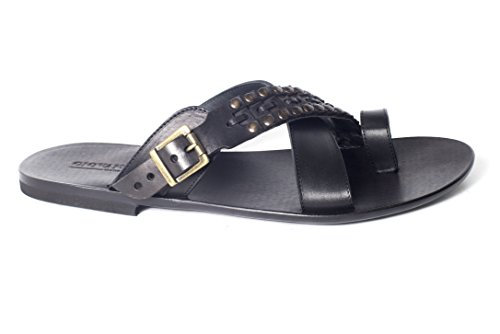 Giovanni Conti 701Mens crosswise black sandals (Italian Man Sandals compare prices)