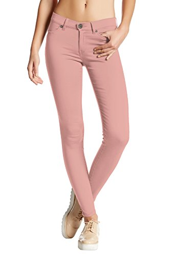Womens Super Stretch Comfy Skinny Pants P44876SKX Dusty Rose 3X