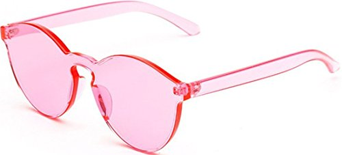 Coloreado de amp;L Hombres Gafas Pink Gafas Para Lente GLASSES J Unisex Sol Retro Gafas Mujeres Adulto RqPRw8