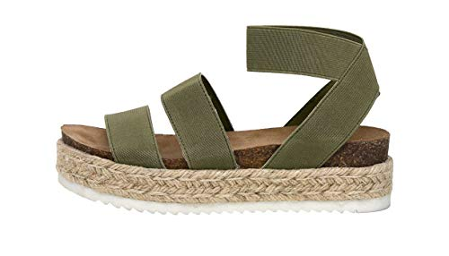CUSHIONAIRE Women's Mandy Cork Espadrille Wedge Sandal