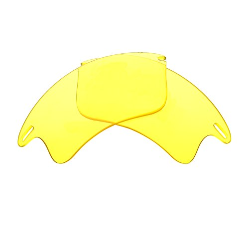 Bnus Replacement Lenses for Oakley Fast Jacket XL Sunglasses - 9 Options Available (Yellow - - Yellow Sunglasses Jacket