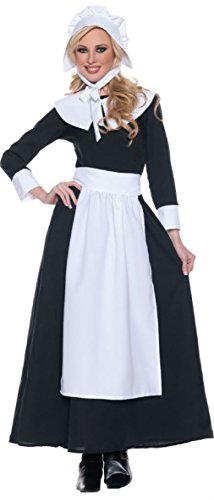 Prairie Girl Costume Ideas (OvedcRay Pilgrim Costume Colonial Prairie Puritan Pioneer Amish Black Woman Adult Bonnet)