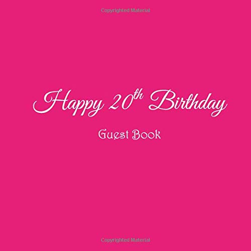 Happy 20th Birthday Guest Book 20 Year Old Party Gifts Accessories Decor Ideas Supplies Decorations For Girls Women
