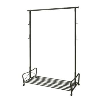 Ikea PORTIS   Clothes Rack, Black   119x60 cm: Amazon.co.uk