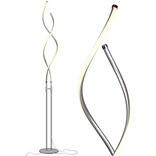 Brightech Embrace - Modern LED Spiral, 2 in 1 Lamp for Living Rooms - Contemporary Bright Lighting, Standing 40